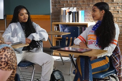 Zoey becomes friends with Luca's new girlfriend Jillian on 'grown-ish.'