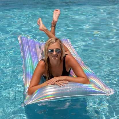 Holographic | Pillow Pool Raft