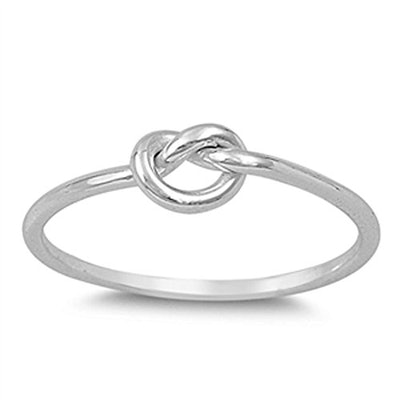 Infinity Knot Love Cute Ring New .925 Sterling Silver Band Size 8