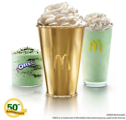 McDonald's Gold Shamrock Shake is valued at over $90,000.