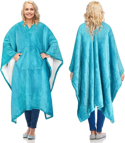 Catalonia Sherpa Blanket Poncho