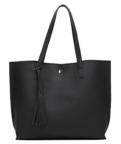 Dreubea Faux Leather Tote Shoulder Bag