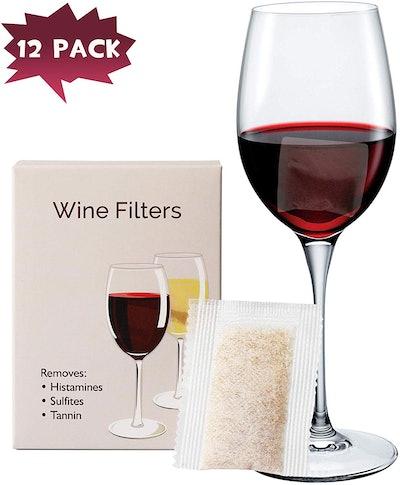 YARKOR Wine Filters (12-Pack)