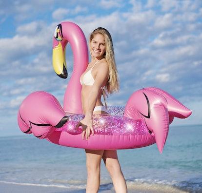 Glitter Flamingo | Jumbo Pool Tube