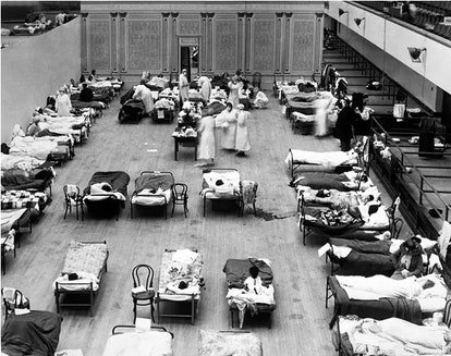 The Oakland Municipal Auditorium was used as a temporary hospital during the 1918 pandemic, which in...