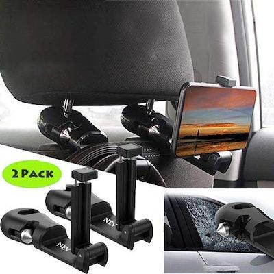 NEVLANTII Car Headrest Hooks (2-Pack)