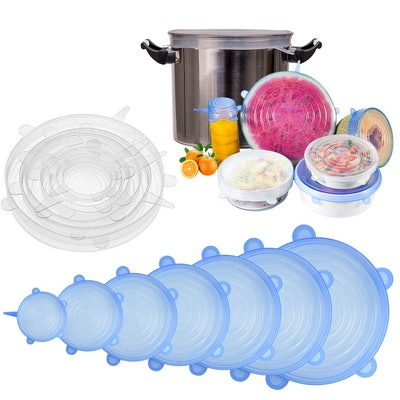 Longzon Silicone Stretch Lids (14 Pieces)