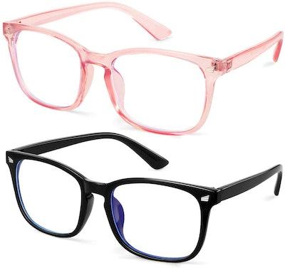 GEKKALE Blue Light Blocking Glasses (2-Pack)