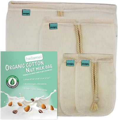 Bellamei Nut Milk Bag (4-Pack)