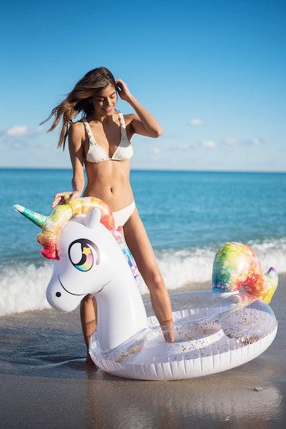 Glitter Unicorn | Jumbo Pool Tube