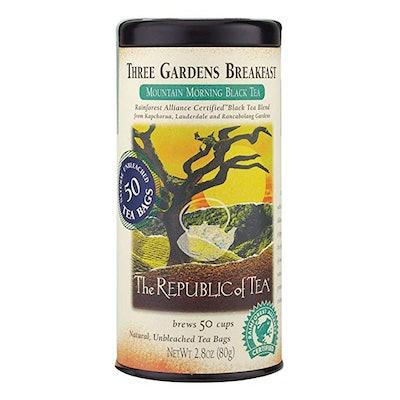 The Republic of Tea Three Gardens Breakfast Black Tea