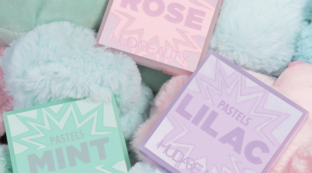 Huda Beauty's new Pastel Obsessions palettes feature this major spring trend