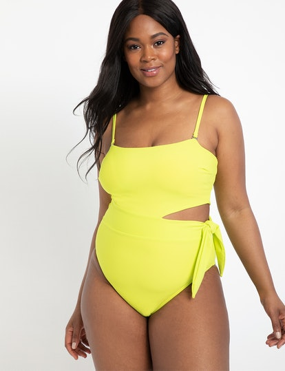 Side Tie Swimsuit - Lime Popsicle