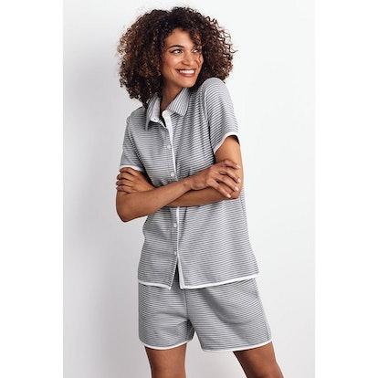 Organic Cotton Knit Stripe Shorts Set - Stripe