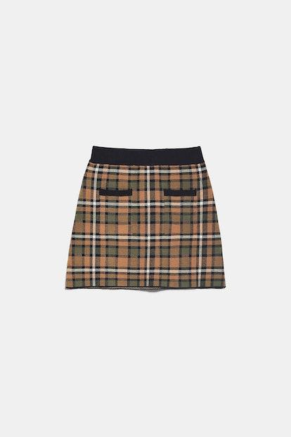 Plait Knit Skirt