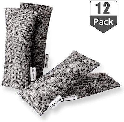 Marsheepy Natural Air Purifying Bamboo Charcoal Bags (12 Pack)