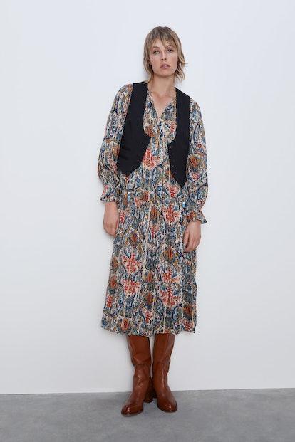Printed Midi Dress