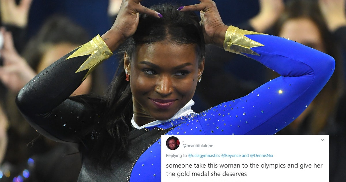 Twitter Is Going WILD Over This Gymnast's Floor Routine To Beyoncé