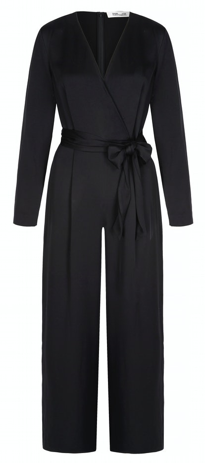 Edith wrap-effect crepe de chine jumpsuit