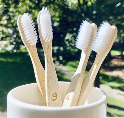 EcoFrenzy Bamboo Toothbrushes (4-Pack)