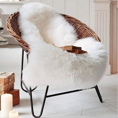 HLZHOU Faux Sheepskin Fur Rug