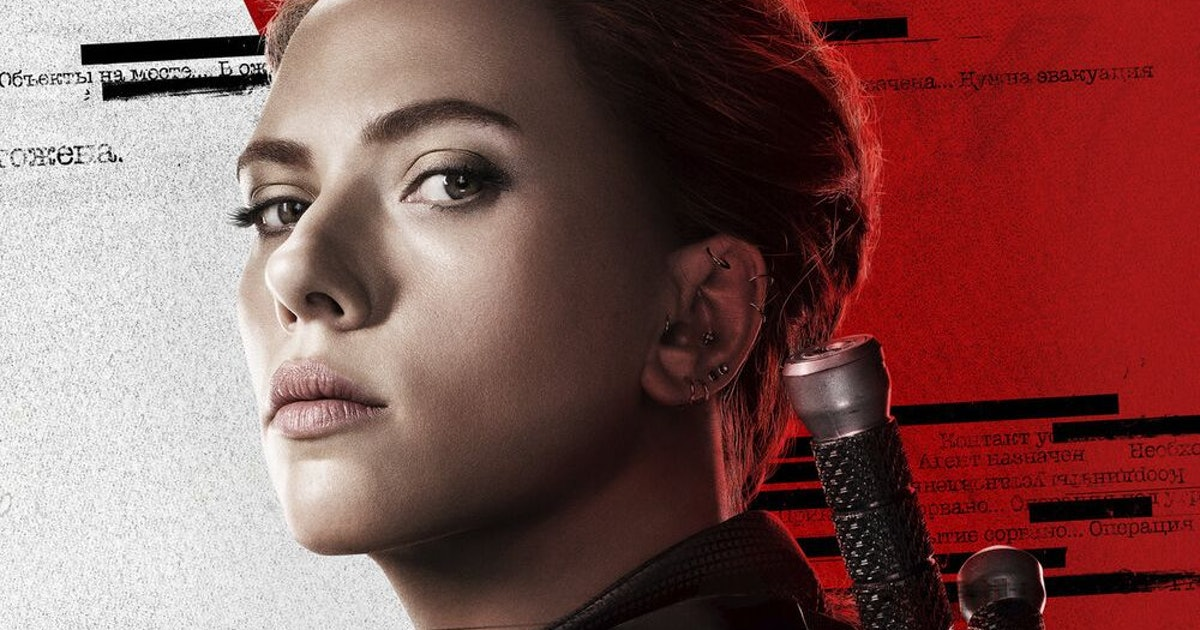 The 'Black Widow' Character Posters Assemble Into A Hidden Symbol