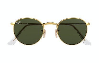 Ray-Ban Round Metal Sunglasses In Green Classic