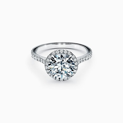 Tiffany Soleste® Round Brilliant Engagement Ring in Platinum