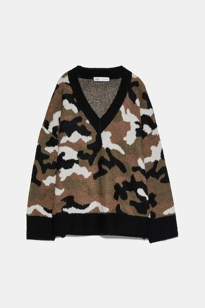 Printed Knit Sweater