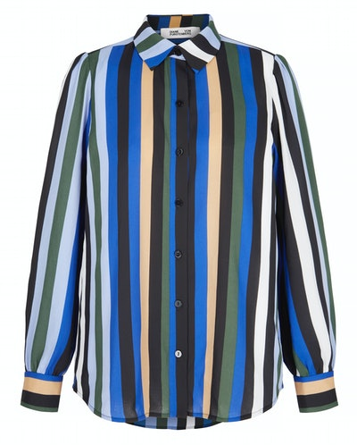 Mariah striped crepe de chine shirt
