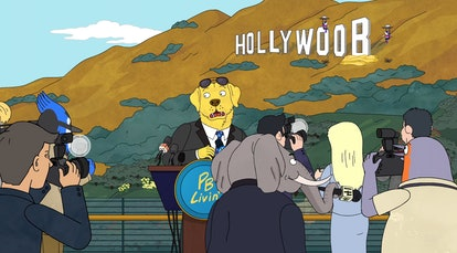 Mr. Peanutbutter (voiced by Paul F. Topkins) in BoJack Horseman