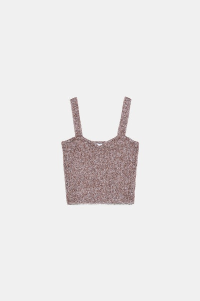 Twisted Knit Crop Top