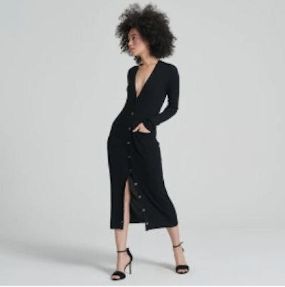 Long Black Cardigan Dress