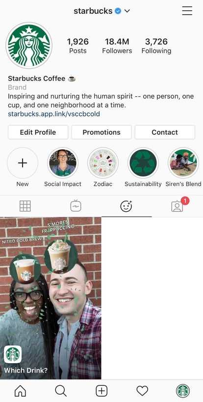 The new Starbucks Instagram filter lets you see which popular drink you might be