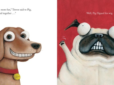 """illustrations from the picture book """"pig the pug"""""""