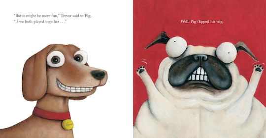 "illustrations from the picture book ""pig the pug"""