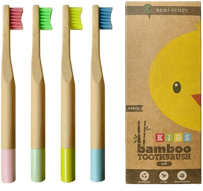 EcoFrenzy Kids Bamboo Toothbrushes (4-Pack)