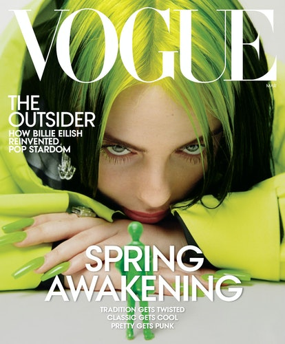 Billie Eilish's Vogue covers captures her personal style.