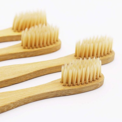 Dr. Perfect Bamboo Toothbrush With Soft Natural Bristles (12-Pack)