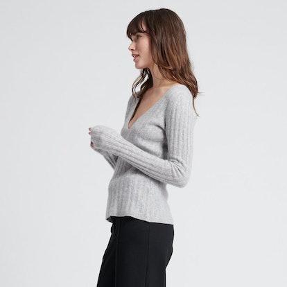 Cashmere Scoop Sweater