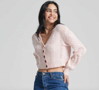 Lace Pointelle Cardigan