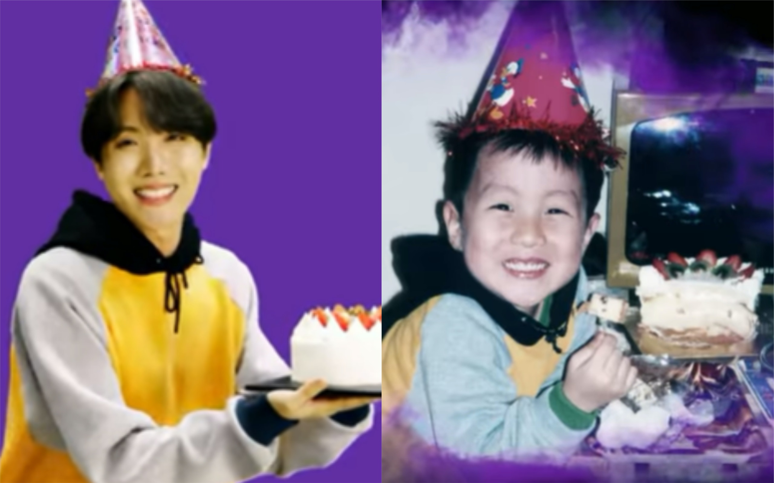 This Video Of Bts J Hope Recreating His Childhood Birthday Photo Is Everything
