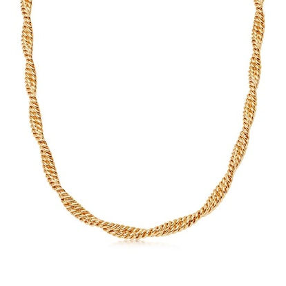 Gold Marina Double Chain Necklace