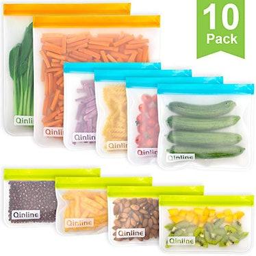 Qinline Reusable Storage Bags (10-pieces)