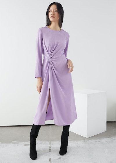 Paisley Twist Knot Midi Dress
