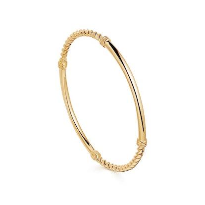 Gold Cord Bangle