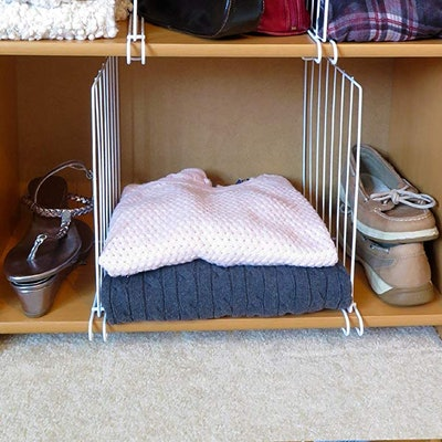 Evelots Closet Wood Shelf Divider (8-Piece Set)