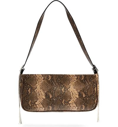 Diamante Faux Leather Shoulder Bag