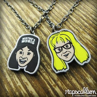 Rapscalliondesign Wayne & Garth Best Friends Necklace Set