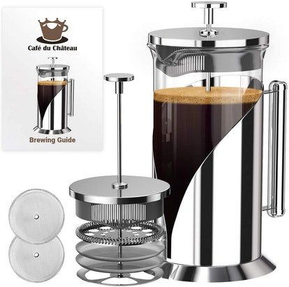 French Press Coffee Maker by Cafe Du Chateau